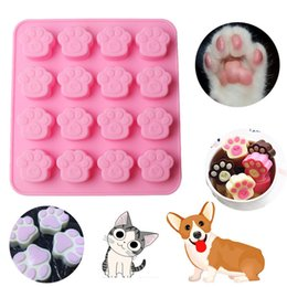 Wholesale Silicone Molds For Cats - Pets Cat Dog Paw Cookie Mold Silicone Cake Candy Chocolate Mould Soap Ice Cube Molds For Cake Tools