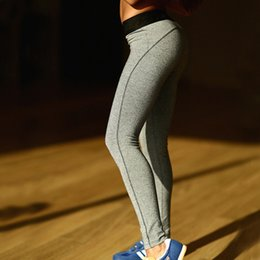 Wholesale Ladies Gym Wear Wholesale - Women Sports Wear Yoga Pants Lady Fitness Sport Stretched Trousers Gym Black Pants Running Tights Leggings
