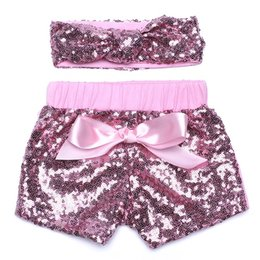 Wholesale Girls Headbands White - 2017 Baby girls fashion sequin short new designs shorts with sequin headband factory price as hotcakes