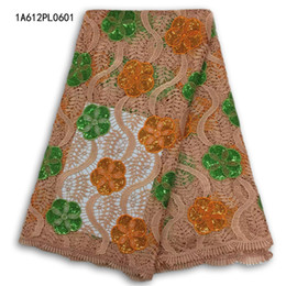 Wholesale Lace Dresses Switzerland - Embroidery African Cord Swiss Voile Switzerland French Nigerian Lace Fabrics water soluble french party dresses free shipping 1A612PL06