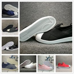 Wholesale Cheap Designer Box - With Box Cheap Designer Brand Fashion Men Superstar Casual Shoes Flat Shoes Women Working Jogging Slip On Crossed Strap Shoes Drop Shipping