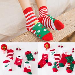 sudor de navidad Rebajas Niño del calcetín de la raya del algodón del invierno del otoño de dibujos animados para el tobillo transpirable sudor captación calcetines de la Navidad para la niña y muchacho 2 5BD B R