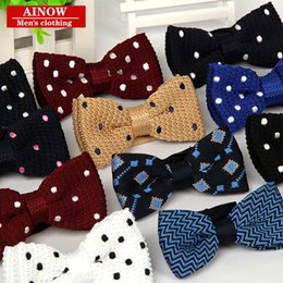 Wholesale Hot Women Tuxedo - New Arrive HOT Mens Neck Knitted Bowtie Bow Tie Pre-Tied Adjustable Tuxedo Bowtie Free Shipping