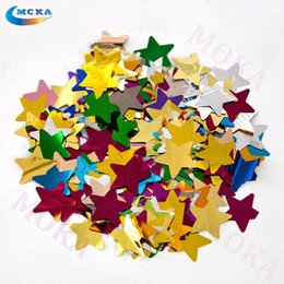 Wholesale Wholesalers For Wedding Confetti - Wholesale- 2kg lot Colorful truss foil paper confetti paper star for confetti machine wedding decoration for stage effect
