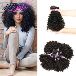 Wholesale Kinky Curly Weave Bundles - kinky curly weave Brazilian human hair unprocessed virgin hair extension three bundles 3pics lot queen hair double weft from msjoli