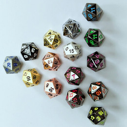 Wholesale Dungeon Dragons - Metal Dice Dungeons and Dragons DND RPG MTG Table Games Polyhedral Dice Mixed Colors Table Game Toy