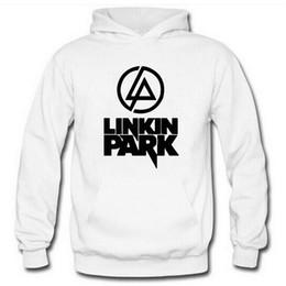 2019 logo parco Spedizione gratuita linkin park logo stampato pullover unisex FELPE Linkin Park tritato felpa con cappuccio per primavera / autunno / inverno pullover in pile 5 colori logo parco economici