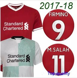 Wholesale Men Longsleeve - Mane COUTINHO M SALAH longsleeve home away soccer jerseys top quality 17 18 Milner FIRMINO HENDERSON LALLANA YNWA football shirts
