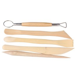 Wholesale pottery tool set - 5pcs 6inch Sculpting Clay Tools Set Wax Carving Shapers Clay Craft Polymer Clay Tools Great