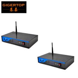 Wholesale 2x Eu - TIPTOP RF-512 2X Led Stage Lighting DMX512 DMX Wireless System International standard DMX 512 agreement 2.4G Compact EU US Power