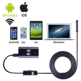 1 M 2 M 3.5 M 5 M IOS Android Wifi Endoskop 8mm Lens 6 LED Su Geçirmez Borescope Muayene Kamera 720 P Yılan Tüp Boru Mini Kameralar nereden