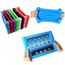 Wholesale Ipad Mini Hand - iPad AIR 2 & iPad 2 3 4 & iPad Mini Kids Shockproof Rubber Silicone Case Cover - Easy Grip for Small Hands