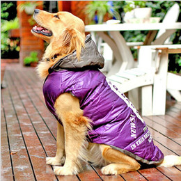 Wholesale Dog Apparel Hair - for Large Dog Winter Clothes Pet Clothes Down Jacket Cotton Padded Coat Big Apparel Coat High Quality Pet Product 1pcs lot