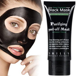 Wholesale Cheap Black Sheets - Cheap Price SHILLS Deep Cleansing Black Mask Pore Cleaner 50ml Purifying Peel-off Mask Blackhead Facial Mask Free DHL Shipping