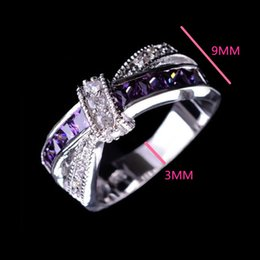 Wholesale Fancy Plating - 925 Sterling Silver Queen Fancy Natural Mystic Topaz Round Gemstone Jewelry Austrian Crystal Wedding Ring for lovers