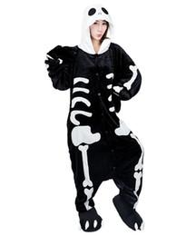 Wholesale Animal Cosplay Kigurumi - Animal Costume Onesie Adults Sleepwear Kigurumi Cosplay Skeleton