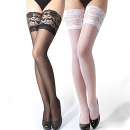 Wholesale Hot Garter Belt - Wholesale-2016 New Fashion Women Sexy Lace Top Thigh-Highs Stockings Garter Belt Suspender Black High Quality Hot Selling