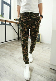 Wholesale Printed Leggings For Men - Wholesale-Spring Mens Joggers Sweatpants Army Camouflge Camouflge Harem Pants For Men Hip Hop Pants Male Active Leggings Trousers free shipp