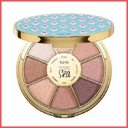 Wholesale Eyeshadow Mixed - Free Shipping by ePacket New Makeup Face Tarte limited-edition Rainforest of the Sea Highlighters Eyeshadow Palette 8 colors+Gifts