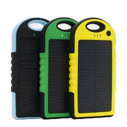 carregadores de bateria portátil Desconto Carregador solar 5000 mah Banco De Energia Solar À Prova D 'Água Portátil Dual-USB Carregador De Bateria De Backup De Viagem Para Todo O Telefone