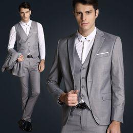 Wholesale Good Brand Black Suit - Jacket + vest + pants new 2015 men's fashion brand of high-end wedding dress high-quality goods Blazer Suits Male business Suits