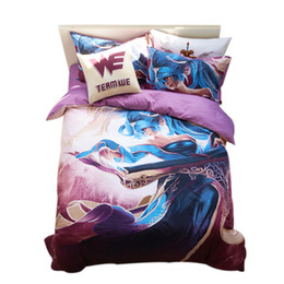 Wholesale Sona Legends - Wholesale- LOL League of Legends Theme Sona Games print bedding set 4pc comforter Blanket cover sheets pillowcases bed sets queen twin full
