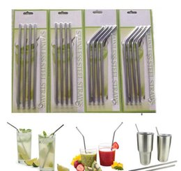 Wholesale Drinking Cup Disposable - 4+1 Set Stainless Steel Straws and Cleaning Brushes for Yeti Rambler RTIC & Drinks Tumbler Cup Brush 20OZ 30OZ Avaiable Drinking Straw