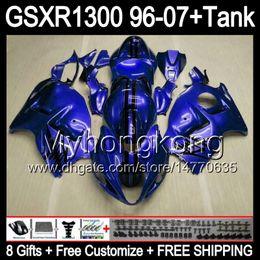 zx14r carrinhos de abs Desconto gloss blue 8gift Para SUZUKI Hayabusa GSXR1300 96 97 98 99 00 01 13MY213 GSXR 1300 GSX-R1300 GSX R1300 02 03 04 05 06 07 brilho azul Carenagem