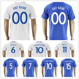 567c321ac8739 Venta al por mayor Grecia Soccer Jersey Cheap   6 TZIOLIS   7 KARELIS   8  PETSOS   10 FORTOUNIS   11 VINTRA   10 KARAGOUNIS Away Blue Football  Camisetas