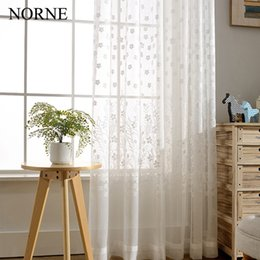 Wholesale Tulle Grommet Curtains - Norne Modern Tulle Window Curtains For Living Room The Bedroom The Kitchen Cortina(rideaux) Spring Lace Fabric Sheer Curtains Blinds Drapes