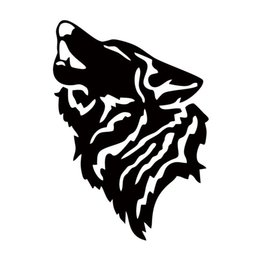 Wholesale Wolf Car Vinyl - Hot Sale For Howling Wolf Car Window Decal Sticker Jdm Personality Funny Car Styling Accessories Graphics Decorative Art