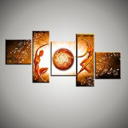 Wholesale Canvas Wall Art Naked - Large abstract modern naked nude art 5 piece canvas wall art hand painted oil painting for home decor living room Bedroom wall