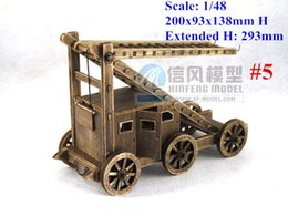 Wholesale Ancient Army - 1 48 Chinese Ancient Siege Car Siege Vehicle Antique Army Weapon model kit #5