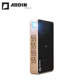 Wholesale Smart Beamer - Wholesale- AODIN M9 Projector with Touch Keys 200lumens 5000mAH Battery Handheld Smart Proyector DLP WiFi Smartphone Bluetooth AC3 Beamer