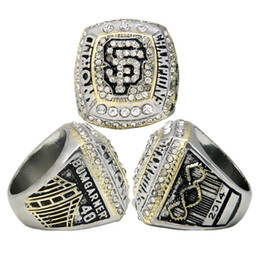 Wholesale European American Fashion Ring - Championship jewelry European and American popular accessories 2014 San Francisco Giants commemorative champion ring fashion rhodium ring