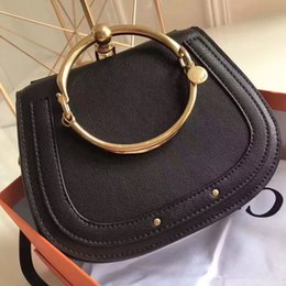 Wholesale Leather Strap Sale - 2017 Hot Sale HighEnd Style Medium Nile Bracelet Ring Circle Hoof Strap Corssbody Flap Bag Six Colors