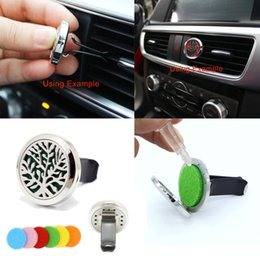 Wholesale Paper For Air Freshener - Premium 316L Stainless Steel Leaf Tree Locket With Vent Clip Aromatherapy Car Air Freshener Essential Oil Diffuser For Auto Accessory