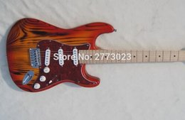 Wholesale Pick Guard Guitar - ,ST guitar,Red Pearl Pick-guard, Locking Tuner, Cherry Burst,OEM Accepted, High Quality, Wholesale