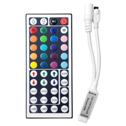 UK led remote dimmers - Wholesale-24 44 Keys LED IR RGB Controler LED Lights Controller IR Remote Dimmer Input DC12V 6A For RGB SMD 3528 5050 Battery included
