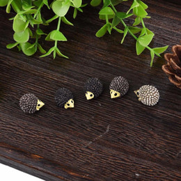 Wholesale Garden Stakes Decor Wholesalers - Cute Hedgehog Five-piece Micro Landscape Bonsai Plant Garden Decor Stakes DIY Craft Decor Ornamen New Arrive