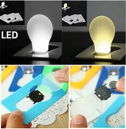 2019 tragbare tasche led-karte licht lampe LED-Karten-Licht-Taschen-Neuheit-Lampe LED-Kreditkarte tragbare leichte Mini-Licht in Geldbörse Brieftasche Notfall tragbare rabatt tragbare tasche led-karte licht lampe