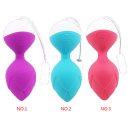 Wholesale Jumping Ball Sex Toy - Andriod IOS Bluetooth Kegel Ball Vagina App Remote Control Vibrator Smart Jump eggs Silicone Covered Bead Trainer Adult Sex Toy