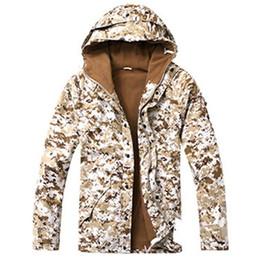 Wholesale fleece hunting jacket - Outdoor Tactical Jacket Men's Waterproof Fleece Camouflage Hunting Hiking Snowboard Jackets Fishing Coat