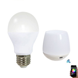 Wholesale Bedroom Group - 22pcs LED Bulbs 6W 9W RGBW 2.4G Group Division Globe Bubble Light AC 85~265V for Showroom Gallery Home +1pc Mi Light WIFI Controller CE ROSH