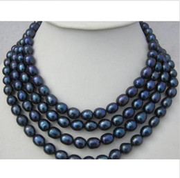 Wholesale Real Black Sea Pearl Necklace - REAL NOBLEST 68 INCH HOT HUGE AAA 11-13MM SOUTH SEA BLACK PEARL NECKLACE