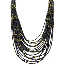 Wholesale Beaded Jewelry Designs - Beads Necklace Tibetan Fashion Five Colors Multilayer Necklace Indian Jewelry Hot Selling Design