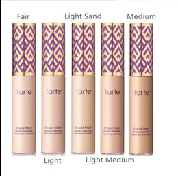 Wholesale Waterproof Sun - Best quality ! Tarte Shape Tape Concealer with good smell Tarte Contour foundatio fair medium light-medium deep light 10ml High Quality