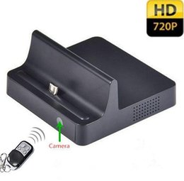 Wholesale Hd Pinhole Camera Motion - HD 720P Dock Charger Spy Camera Phone Charging Dock Hidden Pinhole Camcorder Motion Detection Audio video recorder Real Charger for Samsung