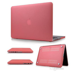 Wholesale Transparent Laptop Covers - Rubberized Hard matte transparent Shell Case Cover For Macbook Air Pro Retina 12 11.6 13.3 15.4 inch case front back full body cover case