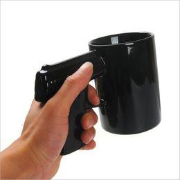 Wholesale Wholesale Pistol Grip Coffee Cups - Pistol Grip Coffee Cups And Mugs Funny Gun Mug Milk Tea Cup Creative Office Ceramic Coffee Mug Drinkware 50pcs Free DHL Fedex